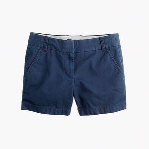 """J.Crew 4"""" Chino Shorts in Navy"""